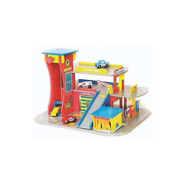 Деревянный конструктор Kids4Kids «Мои? автоцентр»Деревянные конструкторы<br>Характеристики:<br><br>• возраст: от 3 лет<br>• комплектация: элементы для сборки автоцентра с мойкой и заправочной станцией; 4 машинки.<br>• размер собранного автоцентра: 57х47х49 см.<br>• материал: МДФ<br>• упаковка: картонная коробка<br>• размер упаковки: 50х54х14 см<br>• вес: 4 кг.<br><br>Деревянный конструктор Kids4Kids «Мой автоцентр» превосходно развивает воображение и логику, координацию движений, тренирует память и внимание. <br><br>С конструктором «Мой автоцентр» вы навсегда решите вопрос, где хранить многочисленные машинки ребенка. Три этажа парковки располагают достаточным местом для размещения игрушечного транспорта. По парковке можно разъезжать по специальным пандусам, а можно воспользоваться механическим лифтом, который быстро доставит машинку на нужный уровень конструкции, имеется скоростной спуск. Кроме того машинки можно «помыть» в автомойке и «заправить» на заправочной станции.<br><br>Конструктор собирается по системе пазов, без шурупов и болтов, что делает процесс сборки легким и быстрым. Игрушка изготовлена из высококачественного экологически чистого МДФ.<br><br>Деревянный конструктор Kids4Kids «Мои? автоцентр» можно купить в нашем интернет-магазине.<br>Ширина мм: 140; Глубина мм: 540; Высота мм: 500; Вес г: 4000; Возраст от месяцев: 36; Возраст до месяцев: 2147483647; Пол: Мужской; Возраст: Детский; SKU: 7044532;