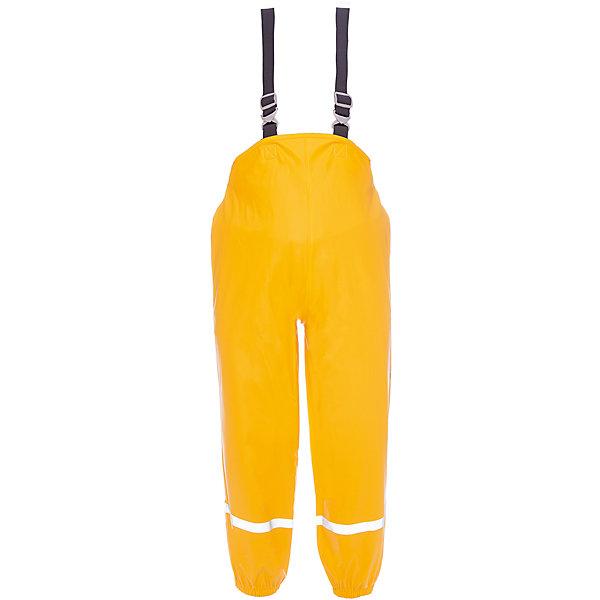 Брюки PLASKEMAN DIDRIKSONSВерхняя одежда<br>Характеристики товара:<br><br>• цвет: желтый<br>• состав ткани: 100% полиуретан<br>• подкладка: 100% полиэстер (трикотаж)<br>• утеплитель: нет<br>• сезон: демисезон<br>• температурный режим: от +5 до +15<br>• влагонепроницаемость: 8000 мм <br>• все швы пропаяны<br>• непродуваемый<br>• капюшон: без меха, съемный<br>• штрипки<br>• застежка: кнопки<br>• манжеты на резинке<br>• фиксированные подтяжки <br>• страна бренда: Швеция<br>• страна изготовитель: Китай<br><br>Яркие непромокаемые брюки для ребенка отличаются стильным дизайном. Материал детских брюк - плотный, с проклеенными швами, он дает защиту от грязи, влаги и ветра. Подкладка детских брюк для дождливой погоды - мягкий трикотаж. Простые в уходе брюки Didriksons для ребенка сделаны из легкого, но плотного материала. <br><br>Брюки Plaskeman Didriksons (Дидриксонс) можно купить в нашем интернет-магазине.<br>Ширина мм: 215; Глубина мм: 88; Высота мм: 191; Вес г: 336; Цвет: желтый; Возраст от месяцев: 48; Возраст до месяцев: 60; Пол: Унисекс; Возраст: Детский; Размер: 110,120,140,100,90,80,70,130; SKU: 7044774;