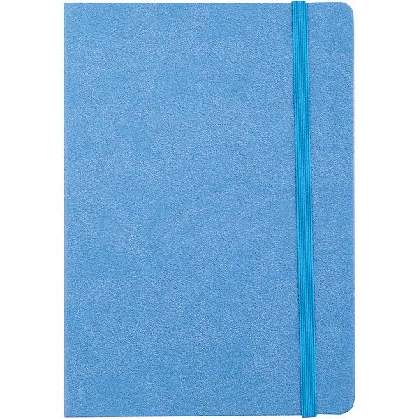 Феникс+ Записная книга на резинке Феникс+, голубой феникс книга счастье маленького ежика