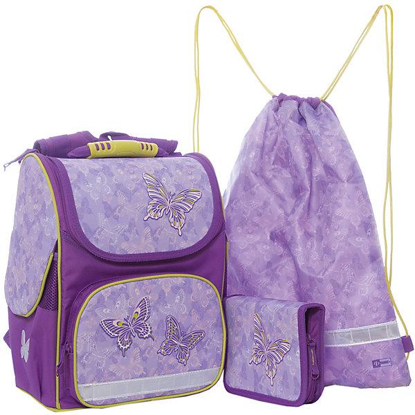 Феникс+ Набор для школьницы Сиреневые бабочки Феникс+ феникс мешок для обуви леопард в цветах