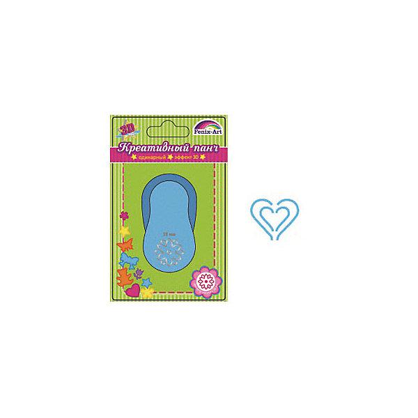 Феникс+ Панч-дырокол одинарный 38 ммСердечко Феникс+ дырокол фигурный феникс цветочек одинарный цвет голубой 3 8 см