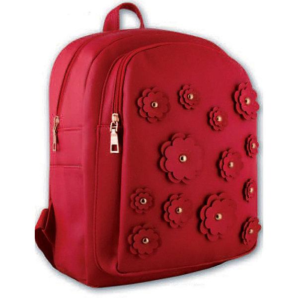 Рюкзак молодежный Цветы Феникс+, красныеРюкзаки<br>Рюкзак молодежный  ЦВЕТЫ (КРАСНЫЕ) (35х26х16см, кожзам, уплотн. лямки с регулировкой, декор. аппликацией и метал. заклепками, 1 фронт. и 2 бок. кармана, индив. ПЭТ-пакет)<br>Ширина мм: 350; Глубина мм: 260; Высота мм: 160; Вес г: 760; Возраст от месяцев: 72; Возраст до месяцев: 2147483647; Пол: Унисекс; Возраст: Детский; SKU: 7046415;
