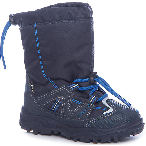 Сапоги Superfit для мальчикаСапоги<br>Характеристики товара:<br><br>• цвет: синий<br>• внешний материал: текстиль<br>• внутренний материал: текстиль<br>• стелька: шерсть<br>• подошва: полимер<br>• сезон: зима<br>• мембранные<br>• температурный режим: от +5 до -25<br>• особенности модели: спортивный стиль<br>• застежка: утяжка<br>• защита мыса <br>• анатомические <br>• подошва не скользит<br>• страна бренда: Австрия<br>• страна изготовитель: Румыния<br><br>Такая модель детской обуви создана с учетом особенностей строения ноги ребенка. Зимние сапоги удобные и износостойкие. Стильные мембранные сапоги Superfit - пример качественной и красивой австрийской обуви. <br><br>Сапоги для девочки Superfit (Суперфит) можно купить в нашем интернет-магазине.<br>Ширина мм: 257; Глубина мм: 180; Высота мм: 130; Вес г: 420; Цвет: синий; Возраст от месяцев: 24; Возраст до месяцев: 24; Пол: Мужской; Возраст: Детский; Размер: 25,24,23,22,30,29,28,27,26; SKU: 7051066;