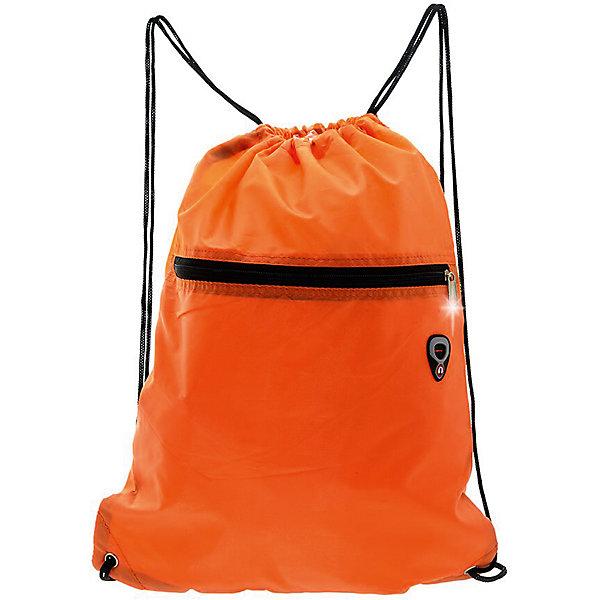 Сумка-рюкзак для обуви, цвет оранжевыйМешки для обуви<br>Характеристики товара:<br><br>• тип товара: сумка - рюкзак;<br>• цвет: оранжевый;<br>• материал: полиэстер;<br>• размер: 45?34 см;<br>• вес: 0,1 кг;<br>• страна бренда: США;<br>• страна изготовитель: Китай.<br><br>Сумка-рюкзак на кулиске очень удобна для сменной обуви. Яркий солнечный цвет подойдет школьникам и школьницам. Снаружи есть дополнительный карман на молнии.<br><br>Сумку-рюкзак на кулиске можно купить в нашем интернет-магазине.<br>Ширина мм: 450; Глубина мм: 340; Высота мм: 0; Вес г: 100; Возраст от месяцев: 60; Возраст до месяцев: 192; Пол: Унисекс; Возраст: Детский; SKU: 7054020;