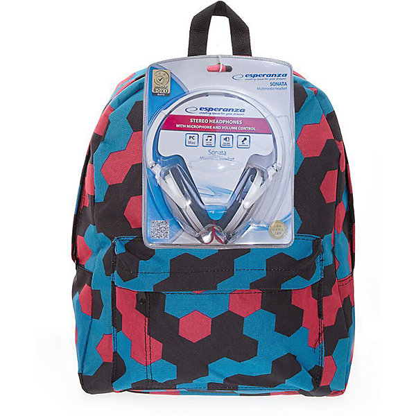 Рюкзак Мозаика с наушниками, цвет мультиРюкзаки<br>Характеристики товара:<br><br>• цвет: мульти;<br>• возраст: от 7 лет;<br>• особенности рюкзака: большой, легкий, школьный;<br>• вес: 0,5 кг;<br>• размер: 40х32х13 см;<br>• материал: полиэстер;<br>• в комплекте наушники;<br>• уплотненная мягкая спинка;<br>• лямки регулируются по росту; <br>уплотненные;<br>• страна бренда: США;<br>• страна изготовитель: Китай.<br><br>Стильный, вместительный и практичный, рюкзак понравится и школьникам, и студентам. Просторный внутренний отсек, наружний карман на молнии будут очень удобны в использовании.<br><br>В комплекте наушники. Настоящая находка для будущей рок-звезды!Длина кабеля 2м, разъем 3,5мм, сопротивление 32 Ом, диапазон часто - 20 Гц-20000 Гц, выходная мощность - 100 мВт.<br><br>Рюкзак «Мозайка» с наушниками можно купить в нашем интернет-магазине.