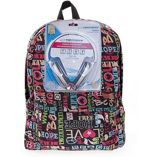 Рюкзак Хиппи с наушниками, цвет мультиРюкзаки<br>Характеристики товара:<br><br>• цвет: мульти;<br>• класс: от 7 лет;<br>• особенности рюкзака: большой, легкий;<br>• вес: 0,5 кг;<br>• размер: 40х32х13 см;<br>• материал: текстиль;<br>• в комплекте наушники;<br>• уплотненная мягкая спинка;<br>• лямки регулируются по росту; <br>уплотненные;<br>• страна бренда: США;<br>• страна изготовитель: Китай.<br><br>Стильный, вместительный и практичный, рюкзак понравится и школьникам, и студентам. Просторный внутренний отсек, наружный карман на молнии будут очень удобны в использовании.<br><br>В комплекте наушники. Длина кабеля 2м, разъем 3,5мм, сопротивление 32 Ом, диапазон часто - 20 Гц-20000 Гц, выходная мощность - 100 мВт.<br><br>Рюкзак «Хиппи» с наушниками можно купить в нашем интернет-магазине.<br>Ширина мм: 400; Глубина мм: 320; Высота мм: 130; Вес г: 500; Возраст от месяцев: 84; Возраст до месяцев: 720; Пол: Унисекс; Возраст: Детский; SKU: 7054033;