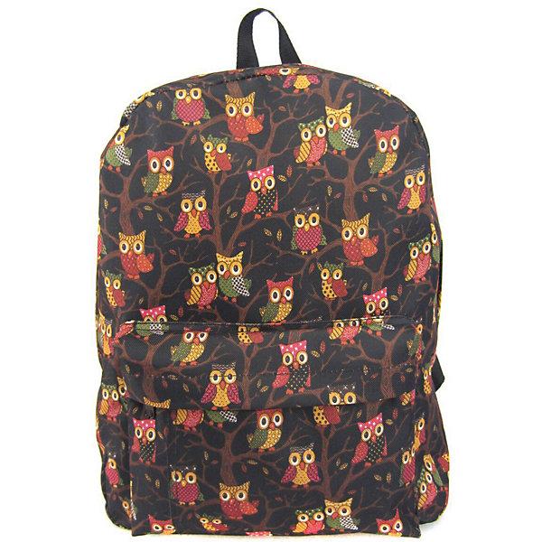 Рюкзак Филины с 1 карманом, цвет черныйРюкзаки<br>Характеристики товара:<br><br>• цвет: черный;<br>• возраст: от 7 лет;<br>• особенности рюкзака: большой, легкий, с принтом;<br>• вес: 0,3 кг;<br>• размер: 40х32х13 см;<br>• материал: полиэстер;<br>• усиленная спинка и дно рюкзака;<br>• лямки регулируются по росту; <br>• основное отделение на молнии;<br>• карман на лицевой стороне рюкзака;<br>• страна бренда: США;<br>• страна изготовитель: Китай.<br><br>Рюкзак «Филины» - очень удобная и вместительная модель. <br><br>Лямки регулируются по росту. Просторный внутренний отсек, наружний карман на молнии будут очень удобны в использовании. Благодаря текстильной ручке рюкзак можно повесить. Выполнен рюкзак из влагостойкой ткани. <br><br>Рюкзак «Филины» с 1 карманом можно купить в нашем интернет-магазине.<br>Ширина мм: 400; Глубина мм: 320; Высота мм: 130; Вес г: 300; Возраст от месяцев: 84; Возраст до месяцев: 720; Пол: Унисекс; Возраст: Детский; SKU: 7054048;