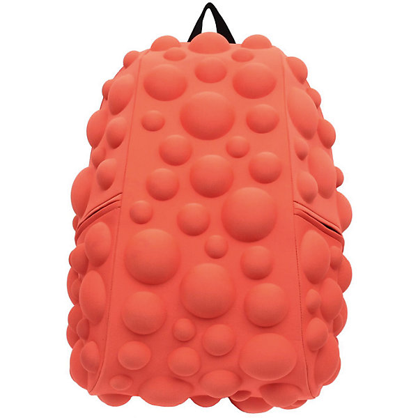 Рюкзак Bubble Full, цвет NEON оранжево-персиковыйРюкзаки<br>Характеристики товара:<br><br>• цвет: Neon оранжево - персиковый;<br>• возраст: от 5 лет;<br>• особенности модели: с пузырями;<br>• вес: 0,8 кг;<br>• размер: 46х36х20 см;<br>• материал: полиспандекс; <br>• ортопедическая спинка;<br>• страна бренда: США;<br>• страна изготовитель: Китай.<br><br>Рюкзаки Madpax отличаются оригинальностью дизайна. Внешний декор рюкзака Bubble Full напоминает скопление мыльных пузырей.<br><br>В рюкзак поместится много вещей, его объем внутри 33 литра. Он способен вместить практически все вещи владельца неважно идете Вы в школу или едете отдыхать. Эргономичные ручки дают возможность без лишних усилий переносить тяжелый рюкзак за спиной. <br><br>Лямки оснащены фиксатором в области груди. Вентилируемым материал на ортопедической спинке создаст комфорт. Внутри 2 отделения: большое для основных вещей и отделение для ноутбука или планшета с диагональю до 17 дюймов. По бокам - два дополнительных кармана на молнии.<br><br>Рюкзак «Bubble Full» можно купить в нашем интернет-магазине.<br>Ширина мм: 460; Глубина мм: 360; Высота мм: 200; Вес г: 800; Возраст от месяцев: 60; Возраст до месяцев: 720; Пол: Унисекс; Возраст: Детский; SKU: 7054058;