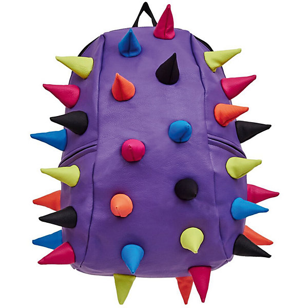 Рюкзак Rex 2 Full , цвет сиреневый мультиРюкзаки<br>Характеристики товара:<br><br>• цвет: сиреневый мульти;<br>• возраст: от 5 лет;<br>• вес: 0,8 кг;<br>• размер: 46х35х20 см;<br>• особенности модели: с пузырями;<br>• основное отделение на молнии;<br>• внутренний кармашек на молнии;<br>• мягкие регулируемые по высоте лямки;<br>• спинка имеет ортопедическую форму;<br>• два дополнительных боковых кармана на молнии;<br>• материал: полиуретан;<br>• страна бренда: США;<br>• страна изготовитель: Китай.<br><br>Удобный и стильный рюкзак Madpax Rex 2 Full непременно понравится школьникам. Малый вес рюкзака позволяет ребенку носить с собой все необходимое для учебы, при этом не перегружая позвоночник. <br><br>Мягкие ремни регулируются в зависимости от роста ребенка, несколько отделений, проветриваемая спинка и дополнительные карманы делают рюкзак максимально комфортным. <br><br>Рюкзак «Rex 2 Full» можно купить в нашем интернет-магазине.<br>Ширина мм: 460; Глубина мм: 350; Высота мм: 200; Вес г: 800; Возраст от месяцев: 60; Возраст до месяцев: 720; Пол: Унисекс; Возраст: Детский; SKU: 7054073;