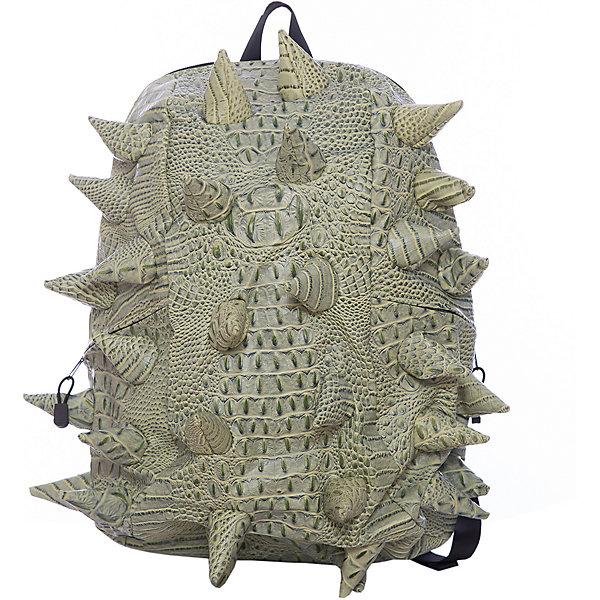 Рюкзак Gator Full, цвет Snap Dragon (зеленый)Рюкзаки<br>Характеристики товара:<br><br>• цвет: Snap Dragon (зеленый);<br>• возраст: от 5 лет;<br>• вес: 0,8 кг;<br>• размер: 46х35х20 см;<br>• особенности модели: с пузырями;<br>• большое отделение на молнии;<br>• дополнительный карман на задней стенке рюкзака;<br>• мягкие регулируемые лямки;<br>• ортопедическая спинка с вентиляцией;<br>• два дополнительных боковых кармана на молнии;<br>• материал: поливинил;<br>• страна бренда: США;<br>• страна изготовитель: Китай.<br><br>Удобный рюкзак для детей Madpax «Gator Full» непременно понравится детям. Малый вес рюкзака позволяет ребенку носить с собой все необходимое для учебы, при этом не перегружая позвоночник. Стильный шипованный дизайн с имитацией кожи рептилий выделяют рюкзак Мэдпакс Гатор Фулл среди аналогичных моделей. <br><br>Удобное расположение дополнительных кармашков позволяет ребенку с легкостью доставать необходимые ему вещи. Специальная спинка рюкзака Гатор Фулл обеспечивает постоянную вентиляцию спины. Мягкие ремни регулируются в зависимости от роста ребенка. Рюкзак «Gator Full» – это стильная и удобная модель, которая предназначена для ежедневного ношения. <br><br>Рюкзак Madpax «Gator Full» можно купить в нашем интернет-магазине.<br>Ширина мм: 460; Глубина мм: 350; Высота мм: 200; Вес г: 800; Возраст от месяцев: 60; Возраст до месяцев: 720; Пол: Унисекс; Возраст: Детский; SKU: 7054086;