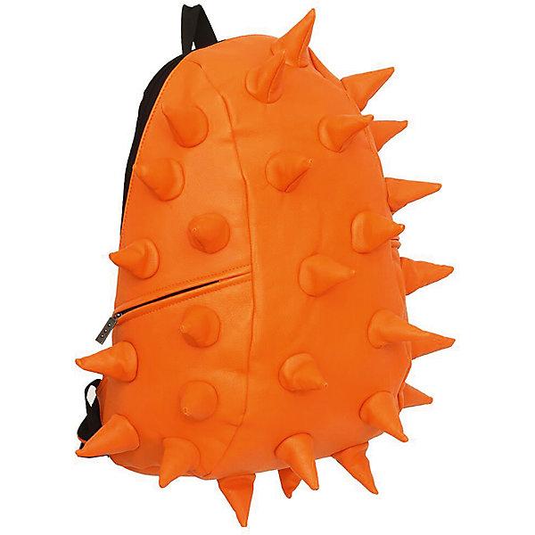 Рюкзак Rex Full, цвет Orange Peel (оранжевый)Рюкзаки<br>Характеристики товара:<br><br>• цвет: Orange Peel (оранжевый);<br>• возраст: от 5 лет;<br>• вес: 0,8 кг;<br>• размер: 46х35х20 см;<br>• особенности модели: с пузырями;<br>• основное отделение на молнии;<br>• дополнительный карман на задней стенке рюкзака;<br>• мягкие регулируемые по высоте лямки;<br>• спинка имеет ортопедическую форму;<br>• два дополнительных боковых кармана на молнии;<br>• материал: полиуретан;<br>• страна бренда: США;<br>• страна изготовитель: Китай.<br><br>Удобный рюкзак для детей Madpax «Rex Full» непременно понравится детям. Малый вес рюкзака позволяет ребенку носить с собой все необходимое для учебы, при этом не перегружая позвоночник. Стильный шипованный дизайн с имитацией кожи рептилий выделяют рюкзак Мэдпакс Рекс Фулл среди аналогичных моделей. <br><br>Удобное расположение дополнительных кармашков позволяет ребенку с легкостью доставать необходимые ему вещи. Специальная спинка рюкзака Рекс Фулл обеспечивает постоянную вентиляцию спины. Мягкие ремни регулируются в зависимости от роста ребенка. Рюкзак «Rex Full» – это стильная и удобная модель, которая предназначена для ежедневного ношения. <br><br>Рюкзак Madpax «Rex Full» можно купить в нашем интернет-магазине.<br>Ширина мм: 460; Глубина мм: 350; Высота мм: 200; Вес г: 800; Возраст от месяцев: 60; Возраст до месяцев: 720; Пол: Унисекс; Возраст: Детский; SKU: 7054091;