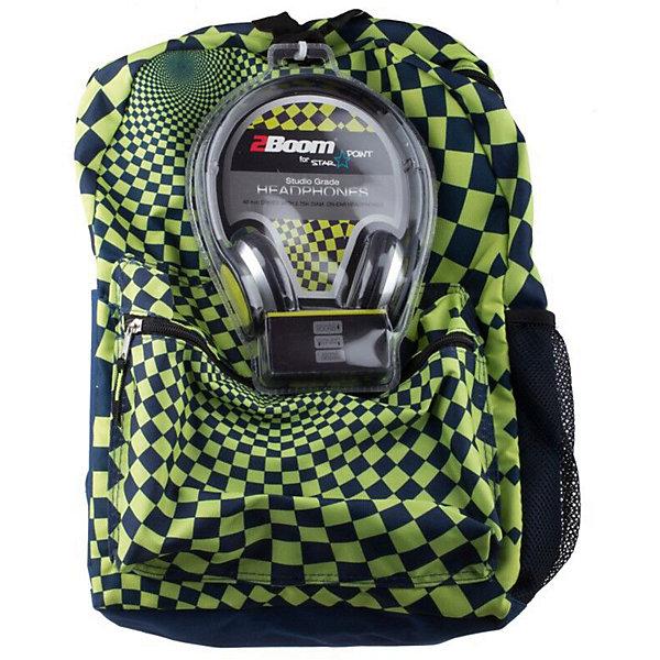 Mojo Pax Рюкзак Hypnocheck Lime с наушниками, цвет синий/лайм mojo pax рюкзак hypnocheck lime с наушниками