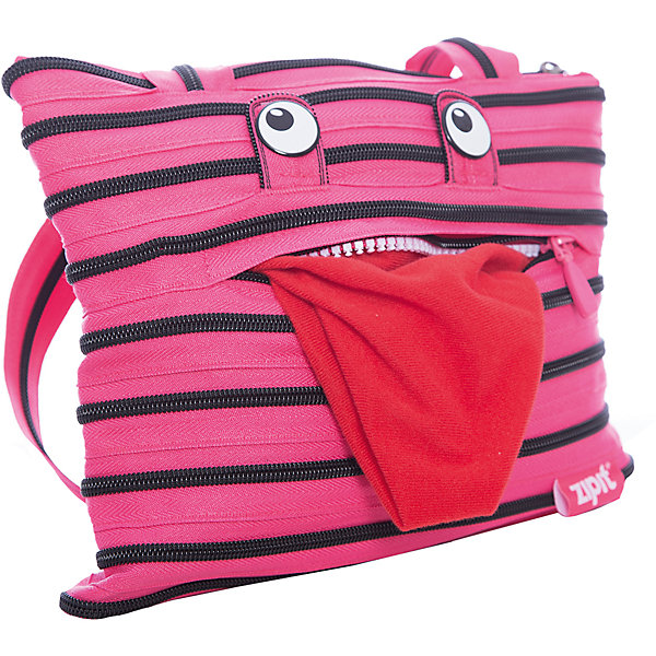 Zipit Сумка Monster Tote/Beach Bag, цвет розовый/черный bucket shaped straw tote bag