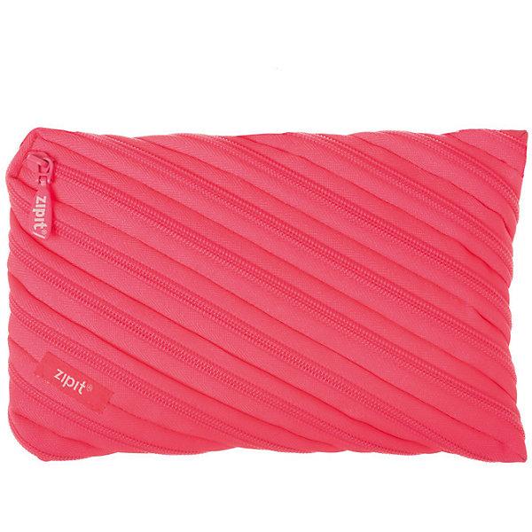 Zipit Пенал-сумочка NEON JUMBO POUCH, цвет розовый пенал colorz box zipit пенал colorz box