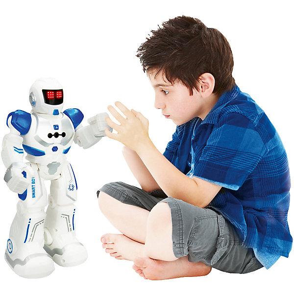 Робот на р/у Longshore Limited Xtrem Bots: АгентРоботы-игрушки<br>Характеристики:<br><br>• возраст: 5+;<br>• материал: пластик, металл;<br>• высота игрушки: 26,5 см;<br>• в комплекте: робот, пульт управления, аккумулятор, USB-провод;<br>• тип питания робота: аккумулятор;<br>• тип аккумулятора: Li-Po 600 mAh;<br>• тип питания пульта: батарейки (в комплект не входят);<br>• тип батареек: 2 х АА / LR6 1.5V (пальчиковые);<br>• габариты упаковки: 25,5х12,5х31,5 см;<br>• упаковка: картонная коробка блистерного типа.<br><br>Робот-агент Xtrem Bots – умная игрушка с возможностью управления и программирования. Робот оснащен специальными датчиками, которые отвечают за световые и звуковые эффекты.<br><br>Дети и взрослые с удовольствием будут придумывать новые испытания для Агента. Управление происходит при помощи дистанционного пульта. Есть возможность программирования более 50 функций.<br><br>Робот-игрушка выполняет команды, танцует, ходит, ездит, говорит. У него есть лицевая мимика. Также работа робота контролируется жестами ребенка.<br><br>Робота на радиоуправлении «Xtrem Bots: Агент», Longshore Limited можно приобрести в нашем интернет-магазине.<br>Ширина мм: 320; Глубина мм: 261; Высота мм: 134; Вес г: 864; Возраст от месяцев: 60; Возраст до месяцев: 108; Пол: Мужской; Возраст: Детский; SKU: 7061901;