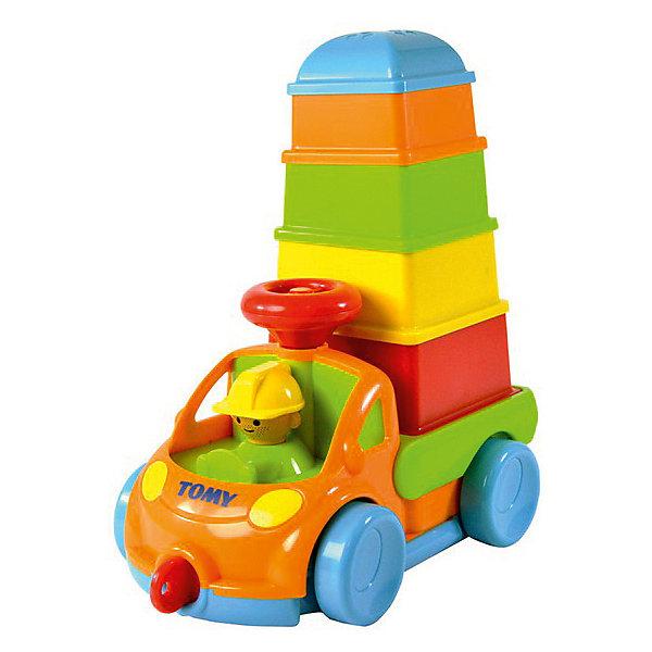 Сортер Tomy Грузовичок с пирамидкойПирамидки<br>Грузовичок 3-в-1: катай, строй, учись! <br><br>грузовичком  на колёсиках очень  легко управлять с помощью руля<br>вынув пирамидку, в кузов грузовичка можно посадить игрушки и перевозить их на машинке<br> пирамидка также выполняет функцию обучающего сортера: малыш может собирать элементы по принципу «матрёшки», тем самым знакомясь с понятием «больший-меньший»<br><br>Размеры упаковки: 16*21*15<br>Ширина мм: 160; Глубина мм: 210; Высота мм: 15; Вес г: 150; Возраст от месяцев: 0; Возраст до месяцев: 1; Пол: Унисекс; Возраст: Детский; SKU: 7064566;