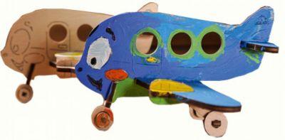 3D-пазл-раскраска Аэроплан UGEARS
