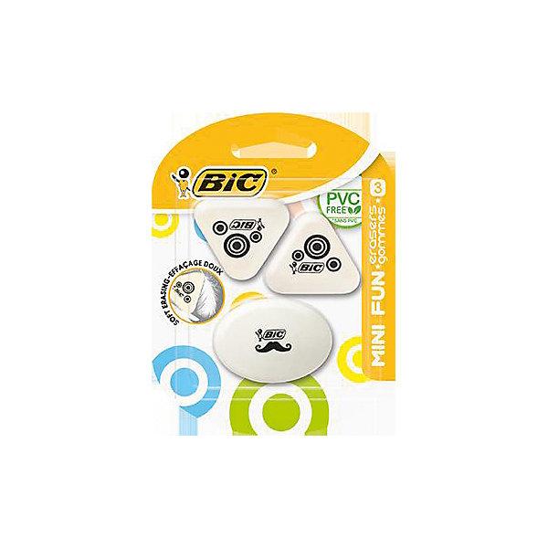 BIC Набор ластиков Bic Mini Fun, 3 шт bic механический каранадаш bic atlantis 07 уп1 12стержней