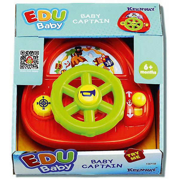 Развивающая игрушка  Keenway Маленький капитанРазвивающие центры<br>Характеристики:<br><br>• Вес в упаковке: 319г.;<br>• материал: пластик;<br>• размер упаковки: 10,1х16,5х16,5см.;<br>• для детей в возрасте: от 6мес..;<br>• страна производитель: Китай.<br><br>Развивающая игрушка «Маленький капитан» бренда» «Keenway» (Кинвей) прекрасный подарок для самых маленьких детишек. Она создана из высококачественных, экологически чистых материалов, что очень важно для детских товаров.<br><br>Игрушка ярко красного цвета привлечёт внимание малыша. Он с удовольствием будет управлять штурвалом и нажимать на жёлтые кнопки, находящиеся рядом. Играть в игрушку можно в ванной, что позволит ребёнку почувствовать себя настоящим капитаном.<br> <br><br>Играя дети развивают зрительное и цветовое восприятие, мелкую моторику.Эта игрушка полностью безопасна для самых маленьких детишек.<br><br>Развивающая игрушка «Маленький капитан» бренда» «Keenway» (Кинвей), можно купить в нашем интернет-магазине.<br>Ширина мм: 165; Глубина мм: 165; Высота мм: 101; Вес г: 2750; Возраст от месяцев: 0; Возраст до месяцев: 12; Пол: Мужской; Возраст: Детский; SKU: 7065783;
