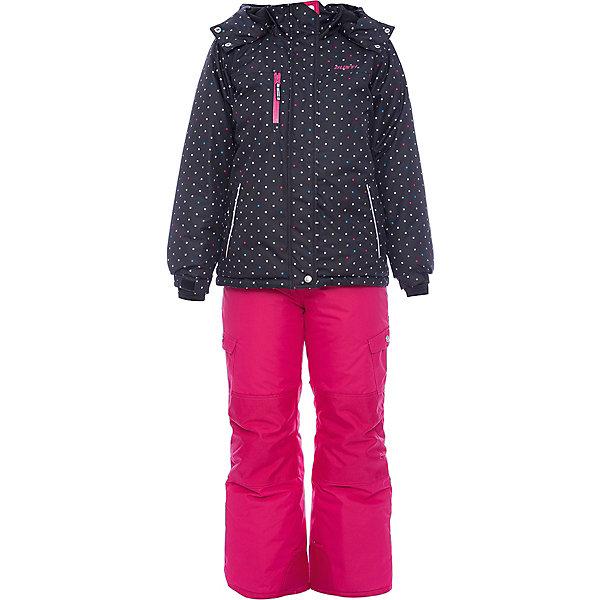 Комплект: куртка и полукомбинезон Gusti для девочкиВерхняя одежда<br>Характеристики товара:<br><br>• цвет: черный/розовый<br>• комплектация: куртка и полукомбинезон <br>• состав ткани: таслан<br>• подкладка: куртка - флис coolquick, брюки - 100% полиэстер<br>• утеплитель: тек-полифилл<br>• сезон: зима<br>• мембранное покрытие<br>• температурный режим: от -30 до +5<br>• водонепроницаемость: 5000 мм <br>• паропроницаемость: 5000 г/м2<br>• плотность утеплителя: грудь и спина 230г/м2, рукава и брюки 170г/м2<br>• застежка: молния<br>• страна бренда: Канада<br>• страна изготовитель: Китай<br><br>Этот теплый комплект для зимы усилен износостойкими накладками. Такой теплый комплект для девочки позволяет коже дышать. Верх детской зимней куртки и полукомбинезона не промокает и не продувается. Мягкая подкладка детского комплекта для зимы приятна на ощупь.<br><br>Комплект: куртка и полукомбинезон Gusti (Густи) для девочки можно купить в нашем интернет-магазине.<br>Ширина мм: 356; Глубина мм: 10; Высота мм: 245; Вес г: 519; Цвет: черный; Возраст от месяцев: 6; Возраст до месяцев: 9; Пол: Женский; Возраст: Детский; Размер: 75,158,150,142,134,127,123,119,112,104,100,96,89,85,82; SKU: 7068825;