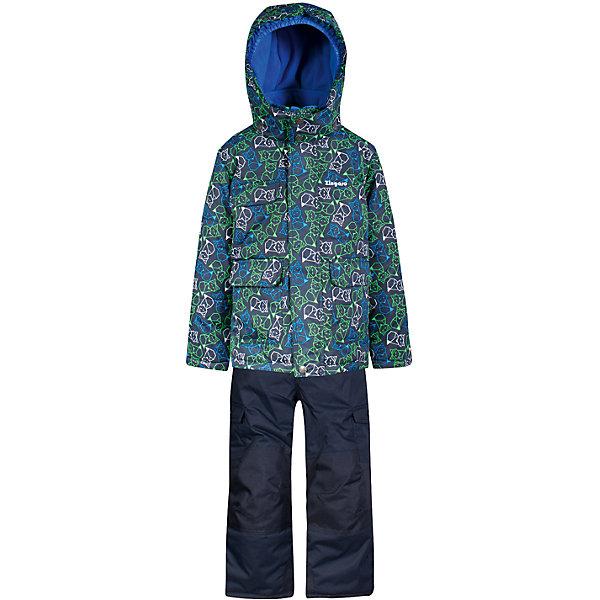 Комплект: куртка и полукомбинезон Zingaro by Gusti для мальчикаВерхняя одежда<br>Характеристики товара:<br><br>• цвет: синий<br>• комплектация: куртка и полукомбинезон <br>• состав ткани: таслан<br>• подкладка: куртка - флис coolquick, брюки - 100% полиэстер<br>• утеплитель: тек-полифилл<br>• сезон: зима<br>• мембранное покрытие<br>• температурный режим: от -30 до +5<br>• водонепроницаемость: 5000 мм <br>• паропроницаемость: 5000 г/м2<br>• плотность утеплителя: грудь и спина 230г/м2, рукава и брюки 170г/м2<br>• застежка: молния<br>• страна бренда: Канада<br>• страна изготовитель: Китай<br><br>Износостойкий детский комплект от канадского бренда Зингаро теплый и легкий. Мембранный зимний комплект для ребенка отличается продуманным дизайном. Непромокаемый и непродуваемый верх детского комплекта не задерживает воздух. Теплый комплект Zingaro by Gusti для мальчика рассчитан даже на сильные морозы. <br><br>Комплект: куртка и полукомбинезон Zingaro by Gusti (Зингаро) для мальчика можно купить в нашем интернет-магазине.<br>Ширина мм: 356; Глубина мм: 10; Высота мм: 245; Вес г: 519; Цвет: синий/зеленый; Возраст от месяцев: 6; Возраст до месяцев: 9; Пол: Мужской; Возраст: Детский; Размер: 75,158,150,142,134,127,123,119,112,104,100,96,89,85,82; SKU: 7069105;