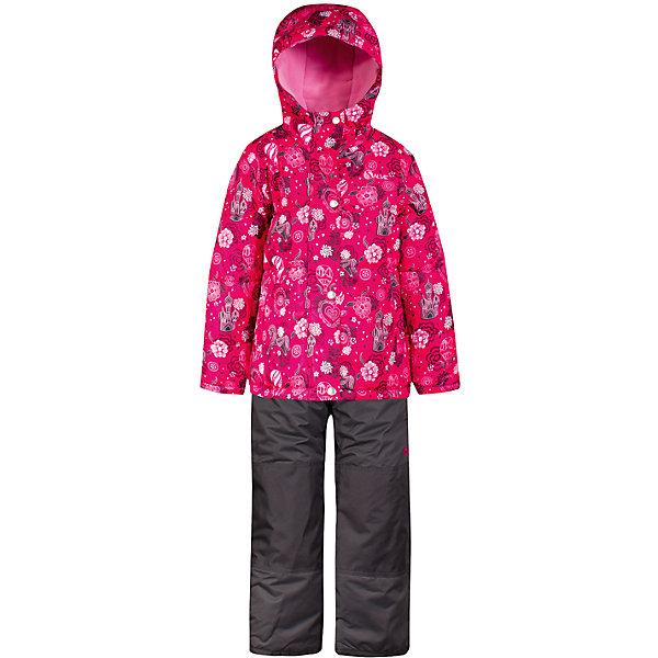 Комплект: куртка и полукомбинезон Salve by Gusti для девочкиВерхняя одежда<br>Характеристики товара:<br><br>• цвет: розовый<br>• комплектация: куртка и полукомбинезон <br>• состав ткани: таслан<br>• подкладка: куртка - флис coolquick, брюки - 100% полиэстер<br>• утеплитель: тек-полифилл<br>• сезон: зима<br>• мембранное покрытие<br>• температурный режим: от -30 до +5<br>• водонепроницаемость: 5000 мм <br>• паропроницаемость: 5000 г/м2<br>• плотность утеплителя: грудь и спина 230г/м2, рукава и брюки 170г/м2<br>• застежка: молния<br>• страна бренда: Канада<br>• страна изготовитель: Китай<br><br>Стильный комплект для зимы усилен износостойкими накладками. Такой теплый комплект для девочки позволяет коже дышать. Плотный верх детской зимней куртки и полукомбинезона Salve by Gusti не промокает и не продувается. Приятная на ощупь мягкая подкладка детского комплекта для зимы делает его очень комфортным.<br><br>Комплект: куртка и полукомбинезон Salve by Gusti by Gusti для девочки можно купить в нашем интернет-магазине.