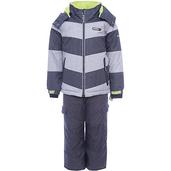 Купить Комплект: куртка и полукомбинезон Gusti для мальчика, Китай, серый, Мужской