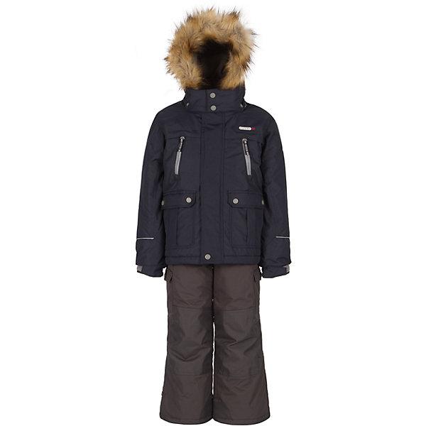 Купить Комплект: куртка и полукомбинезон Gusti для мальчика, Китай, синий, Мужской