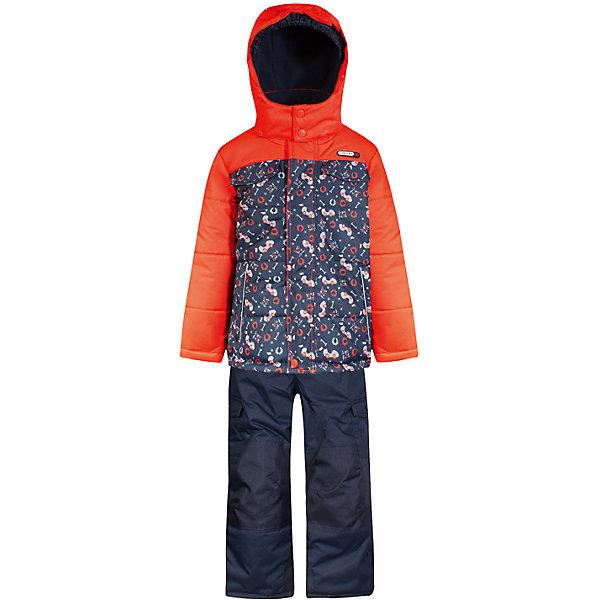 Комплект: куртка и полукомбинезон Gusti для мальчикаВерхняя одежда<br>Характеристики товара:<br><br>• цвет: оранжевый<br>• комплектация: куртка и полукомбинезон <br>• состав ткани: таслан<br>• подкладка: куртка - флис coolquick, брюки - 100% полиэстер<br>• утеплитель: тек-полифилл<br>• сезон: зима<br>• мембранное покрытие<br>• температурный режим: от -30 до +5<br>• водонепроницаемость: 5000 мм <br>• паропроницаемость: 5000 г/м2<br>• плотность утеплителя: грудь и спина 230г/м2, рукава и брюки 170г/м2<br>• застежка: молния<br>• страна бренда: Канада<br>• страна изготовитель: Китай<br><br>Модный комплект для зимы усилен износостойкими накладками. Мягкая подкладка детского комплекта для зимы делает его очень комфортным. Этот теплый комплект для мальчика позволяет коже дышать. Плотный верх детской зимней куртки и полукомбинезона не промокает и не продувается.<br><br>Комплект: куртка и полукомбинезон Gusti (Густи) для мальчика можно купить в нашем интернет-магазине.<br>Ширина мм: 356; Глубина мм: 10; Высота мм: 245; Вес г: 519; Цвет: белый; Возраст от месяцев: 12; Возраст до месяцев: 18; Пол: Мужской; Возраст: Детский; Размер: 85,75,82,123,119,112,104,100,96,89; SKU: 7070917;