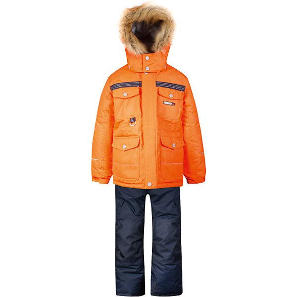 Комплект: куртка и полукомбинезон Gusti для мальчикаКомплекты<br>Характеристики товара:<br><br>• цвет: оранжевый<br>• комплектация: куртка и полукомбинезон <br>• состав ткани: таслан<br>• подкладка: куртка - флис coolquick, брюки - 100% полиэстер<br>• утеплитель: тек-полифилл<br>• сезон: зима<br>• мембранное покрытие<br>• температурный режим: от -30 до +5<br>• водонепроницаемость: 5000 мм <br>• паропроницаемость: 5000 г/м2<br>• плотность утеплителя: грудь и спина 230г/м2, рукава и брюки 170г/м2<br>• застежка: молния<br>• страна бренда: Канада<br>• страна изготовитель: Китай<br><br>Яркий комплект для ребенка отличается стильным дизайном. Простой в уходе мембранный комплект Gusti для мальчика сделан легкого, но теплого материала. Верх детской зимней куртки и полукомбинезона также обеспечит защиту от грязи, влаги и ветра. Подкладка детского комплекта для зимы приятная на ощупь. <br><br>Комплект: куртка и полукомбинезон Gusti (Густи) для мальчика можно купить в нашем интернет-магазине.<br>Ширина мм: 356; Глубина мм: 10; Высота мм: 245; Вес г: 519; Цвет: оранжевый; Возраст от месяцев: 12; Возраст до месяцев: 18; Пол: Мужской; Возраст: Детский; Размер: 112,104,82,75,100,96,89,158,134,150,142,127,123,119,85; SKU: 7070987;