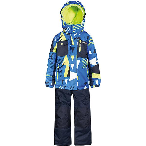 Купить Комплект: куртка и полукомбинезон Gusti для мальчика, Китай, синий/зеленый, 75, 82, 85, 89, 96, 100, 104, 112, 119, 123, 127, 134, 142, 150, 158, Мужской