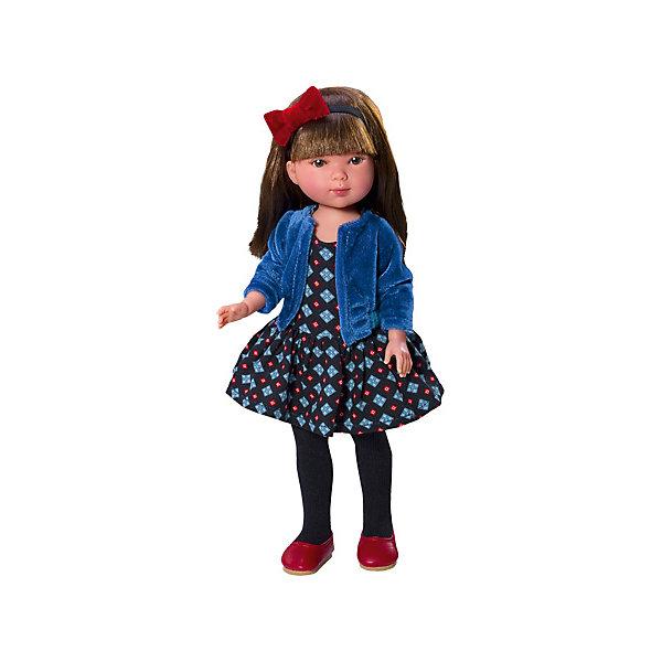 Кукла Vestida de Azul Карлотта, брюнетка с челкой, АктрисаКуклы<br>Характеристики:<br><br>• вес: 325г.;<br>• материал: винил, текстиль;<br>• упаковка: коробка;<br>• размер упаковки: 34х14х8см.;<br>• для детей в возрасте: от 3 лет;<br>• страна производитель: Испания.<br><br>Кукла «Карлотта Актриса» бренда Vestida de Azul (Вестида Де Азул) станет желанным подарком для маленькой девочки. Она создана из высококачественных, экологически чистых материалов, что очень важно для детских товаров.<br><br>Милая куколка с длинными густыми волосами, в шикарном наряде не оставит равнодушной ни одну девоку. Игрушка имеет оптимальный размер, её рост составляет двадцать восемь сантиметров. Она может стоять без поддержки, а ножки и ручки хорошо двигаются. Карлотту можно брать с собой в путешествия и на прогулки, чтобы показывать подружкам и играть вместе сними.<br><br>Играя с куклой дети могут создавать свой стиль в одежде и причёске, развивать фантазию, креативность.<br><br>Куклу «Карлотту Актрису» можно купить в нашем интернет-магазине.<br>Ширина мм: 350; Глубина мм: 100; Высота мм: 200; Вес г: 380; Возраст от месяцев: 36; Возраст до месяцев: 2147483647; Пол: Женский; Возраст: Детский; SKU: 7073747;