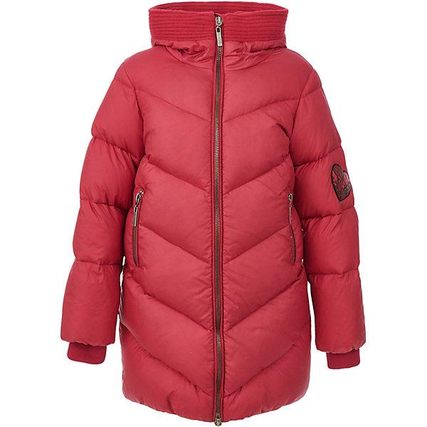 Пальто Gulliver для девочкиВерхняя одежда<br>Характеристики товара:<br><br>• цвет: красный;<br>• состав: 100% нейлон;<br>• подкладка: 100% полиэстер, флис;<br>• утеплитель: 80% пух, 20% перо;<br>• сезон: зима;<br>• температурный режим: от +5 до -20С;<br>• особенности: пуховое, с пайетками;<br>• застежка: молния с защитой подбородка;<br>• сплошная флисовая подкладка;<br>• капюшон не отстегивается;<br>• высокий воротник-стойка;<br>• внутренние трикотажные манжеты;<br>• аппликация из пайеток на рукаве;<br>• аппликация сзади изделия;<br>• 2 кармана на молнии;<br>• коллекция: Коллаж;<br>• страна бренда: Россия;<br>• страна изготовитель: Китай.<br><br>Зимнее пальто с капюшоном для девочки. Детское пальто от Gulliver - это сочетание прекрасного внешнего вида, удобства, уюта и тепла. Интересный дизайн модели: свободная объемная форма, функциональные детали, яркие нашивки делают пальто ярким, интересным, заметно отличающимся от простых базовых решений.<br><br>Пальто Gulliver для девочки (Гулливер) можно купить в нашем интернет-магазине.<br>Ширина мм: 356; Глубина мм: 10; Высота мм: 245; Вес г: 519; Цвет: красный; Возраст от месяцев: 72; Возраст до месяцев: 84; Пол: Женский; Возраст: Детский; Размер: 122,140,134,128; SKU: 7076812;