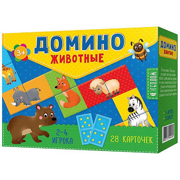 Домино Животные Издательство ГеоДомДомино<br>Характеристики:<br><br>• размер 19,0х15,0х6,0см;<br>• упаковка: картон;<br>• вес: 325г.;<br>• для детей в возрасте: от 3 лет;<br>• страна производитель: Россия.<br><br>Домино «Животные» от издательства Геодом прекрасный подарок для мальчишек и девчонок. Детское домино включает в себя двадцать восемь карточек поделённых пополам. На каждой фишке изображены половинки двух разных зверей. <br><br>Игра имеет два варианта. Целью первого варианта игры является составление из половинок целых зверей, а перевернув фишки на другую сторону с изображением точек, можно играть во второй вариант, сопоставлять одинаковое количество точек. Играть в домино можно в компании с друзьями от двух до четырёх человек.<br><br>Играя дети развивают память, внимательность, логическое и пространственное мышление, мелкую моторику рук, усидчивость, терпение.<br><br>Домино «Животные» издательства Геодом можно приобрести в нашем интернет-магазине.<br>Ширина мм: 190; Глубина мм: 150; Высота мм: 6; Вес г: 325; Возраст от месяцев: 36; Возраст до месяцев: 2147483647; Пол: Унисекс; Возраст: Детский; SKU: 7077935;