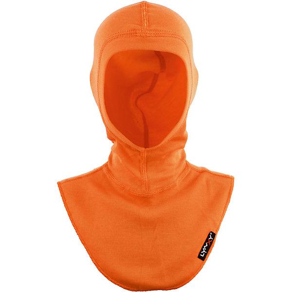 Шапка-шлем LynxyГоловные уборы<br>Характеристики товара:<br><br>• цвет: оранжевый<br>• состав ткани: 95% полиэстер, 5% вискоза <br>• подкладка: нет<br>• сезон: зима<br>• температурный режим: от -30 до 0<br>• страна бренда: Россия<br>• страна изготовитель: Россия<br><br>Оранжевая детская шапка-шлем отличается мягкими швами. Шапка-шлем для детей легко одевается благодаря эластичной ткани. Инновационный материал Trevira делает эту шапку-шлем для ребенка теплой и удобной. <br><br>Шапку-шлем Lynxy (Линкси) можно купить в нашем интернет-магазине.<br>Ширина мм: 89; Глубина мм: 117; Высота мм: 44; Вес г: 155; Цвет: оранжевый; Возраст от месяцев: 96; Возраст до месяцев: 120; Пол: Унисекс; Возраст: Детский; Размер: 56,54; SKU: 7079779;