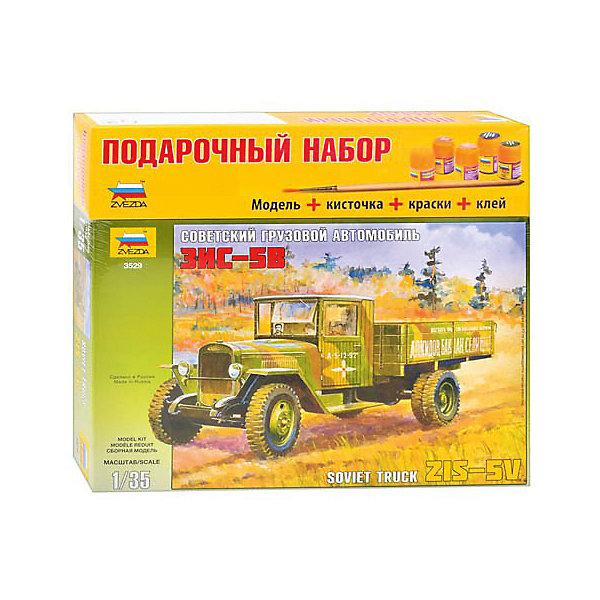 Звезда Сборная модель Звезда Грузовик ЗиС-5, 1:35 (подарочный набор) звезда сборная модель звезда советские разведчики диверсанты 1 35