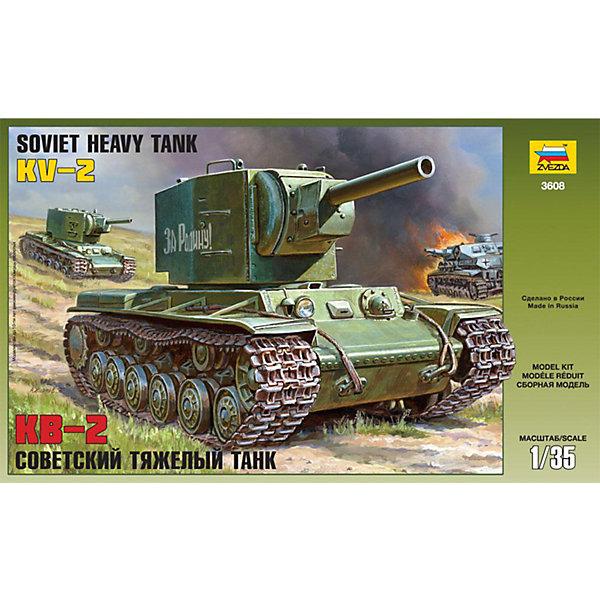 Сборная модель Звезда Советский тяжелый танк КВ-2, 1:35Военная техника и панорама<br>Характеристики:<br><br>• возраст: от 8 лет;<br>• тип игрушки: сборная модель;<br>• масштаб: 1:35;<br>• количество деталей: 393;<br>• размер: 40x7x24.2 см; <br>• высота: 20 см;<br>• комплект: детали для сборки, клей, кисточка, базовые краски;<br>• материал: пластик;<br>• бренд: Звезда;<br>• упаковка: картонная коробка;<br>• страна производитель: Россия.<br><br>Сборная модель от бренда Звезда «Советский тяжелый танк КВ-2» окажется увлекательной и познавательной игрой для ребенка старше 8 лет. Сборка заставляет сосредоточиться и проявить усидчивость. Набор станет отличным подарком для любого коллекционера моделей военной техники. <br><br>Узнаваемый профиль, сверхмощное вооружение, практически непробиваемая броня, все это, сделали этот танк легендой, стоящей в одном ряду с Катюшей, Т-34 и автоматом ППШ. бственными руками великолепную копию, захочет каждый. Также масштабная модель позволит ознакомиться с премудростями инженерии, что может стать очень полезным навыком для ребенка. Набор собирается при помощи клея и краски, которые в набор не входят.<br><br>Сборную модель от бренда Звезда «Советский тяжелый танк КВ-2» можно купить в нашем интернет-магазине.<br>Ширина мм: 400; Глубина мм: 242; Высота мм: 70; Вес г: 550; Возраст от месяцев: 36; Возраст до месяцев: 180; Пол: Мужской; Возраст: Детский; SKU: 7086417;