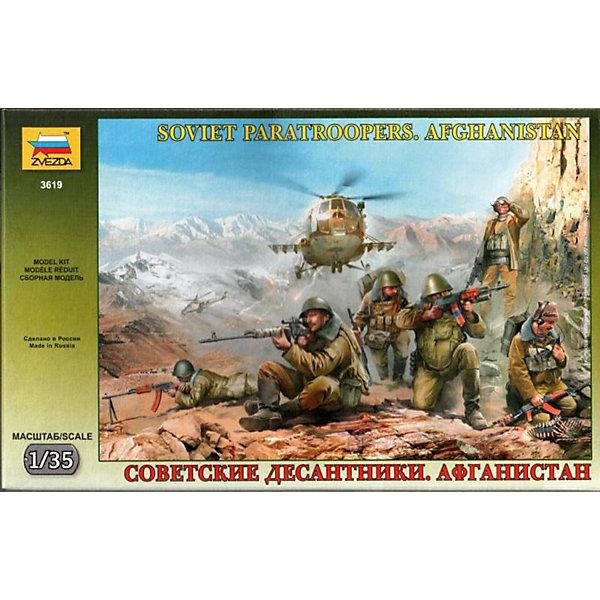 Звезда Сборная модель Звезда Советские десантники. Афганистан, 1:35 звезда сборная модель звезда советские пограничники 1941 1 72 сборка без клея