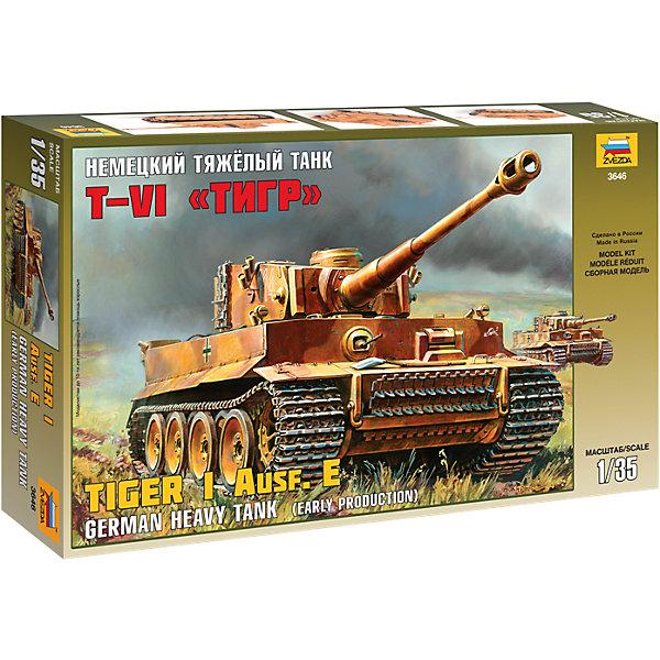 Звезда Сборная модель Звезда Немецкий тяжелый танк Т-VI Тигр, 1:35 звезда сборная модель немецкий средний танк pz iv ausf d