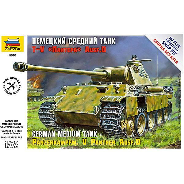 Звезда Сборная модель Звезда Немецкий средний танк Пантера T-V Ausf D, 1:72 звезда сборная модель немецкий средний танк pz iv ausf d