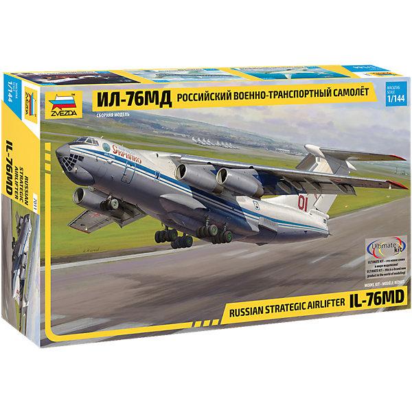 Звезда Сборная модель Звезда Российский военно-транспортный самолёт Ил-76МД, 1:144 звезда сборная модель звезда российский четырёхмачтовый барк крузенштерн 1 200