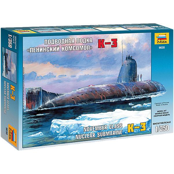 Звезда Сборная модель Звезда Подводная лодка Ленинский комсомол К-3, 1:350 подводная лодка подводная лодка f301 угол клапан красоты
