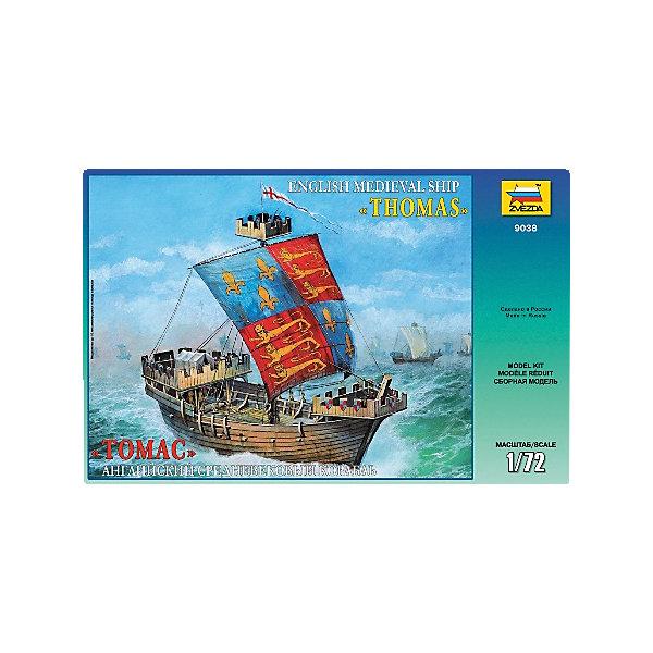 Сборная модель Звезда Английский корабль Томас, 1:72Корабли и подводные лодки<br>Характеристики:<br><br>• возраст: от 8 лет;<br>• тип игрушки: сборная модель;<br>• масштаб: 1:72;<br>• количество деталей: 171;<br>• размер: 25х46х6 см; <br>• комплект: детали, инструкция по сборке;<br>• материал: пластик;<br>• высота: 42 см;<br>• бренд: Звезда;<br>• упаковка: картонная коробка;<br>• страна производитель: Россия.<br><br>Сборная модель от бренда Звезда «Английский корабль Томас» окажется увлекательной и познавательной игрой для ребенка старше 8лет. Сборка заставляет сосредоточиться и проявить усидчивость. Набор станет отличным подарком для любого коллекционера моделей военной техники.<br><br>Сборная модель  от российского производителя «Звезда» станет прекрасным подарком не только для ребенка, но и для взрослого коллекционера. Она представляет собой миниатюрную копию английского корабля, выполненную в масштабе 1/72 из высококачественного пластика. После сборки модель можно покрасить.<br><br>Сборную модель от бренда Звезда «Английский корабль Томас» можно купить в нашем интернет-магазине.<br>Ширина мм: 487; Глубина мм: 307; Высота мм: 85; Вес г: 1000; Возраст от месяцев: 36; Возраст до месяцев: 180; Пол: Мужской; Возраст: Детский; SKU: 7086594;