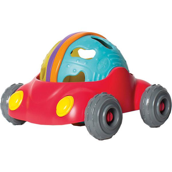Погремушка Playgro МашинкаМашинки<br>Характеристики:<br><br>• погремушка для ребенка старше 1 года;<br>• машинка легко едет по гладкой поверхности;<br>• съемный шарик с отверстиями можно использовать отдельно от машинки;<br>• внутри шарика находится мячик с цветными бусинками, которые при встряхивании создают перезвон;<br>• материал: пластик;<br>• высота машинки: 12 см.<br>• размер упаковки: 20х16х15 см.<br><br>Игрушечная машинка Playgro – это мини-грузовичок, который транспортирует яркий съемный элемент. Шарик имеет рифленую поверхность с выпуклыми элементами – полоски, пупырышки, зигзаги. Отверстия позволяют захватывать шарик пальчиками и удерживать его. <br><br>Внутри шарика находится пластиковый контейнер с цветными перекатывающимися бусинками, которые при движении создают мелодичный перезвон. <br><br>Погремушку Playgro «Машинка» можно купить в нашем интернет-магазине.<br>Ширина мм: 204; Глубина мм: 159; Высота мм: 180; Вес г: 252; Цвет: mehrfarbig; Возраст от месяцев: 12; Возраст до месяцев: 36; Пол: Унисекс; Возраст: Детский; SKU: 7087652;