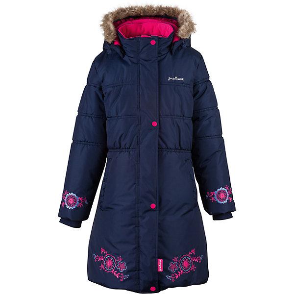 Пальто Premont для девочкиВерхняя одежда<br>Характеристики товара:<br><br>• цвет: синий<br>• состав ткани: Taslan<br>• подкладка: Polar fleece, Taffeta<br>• утеплитель: Tech-polyfill<br>• сезон: зима<br>• мембранное покрытие<br>• температурный режим: от -30 до +5<br>• водонепроницаемость: 5000 мм <br>• паропроницаемость: 5000 г/м2<br>• плотность утеплителя: 280 г/м2<br>• капюшон: съемный<br>• искусственный мех на капюшоне отстегивается<br>• застежка: молния<br>• страна бренда: Канада<br>• страна изготовитель: Китай<br><br>Размеры изделия: <br>• Длина внутреннего шва рукава: 46см<br>• Длина внешнего шва рукава: 61см <br>• Длина спинки: 77см<br>• Ширина от плеча до плеча: 37см<br>• Ширина спинки от подмышки до подмышки: 46см<br><br>Модное детское пальто сделано с применением инновационной мембранной технологии. Зимнее пальто дополнено планкой от ветра, светоотражающими элементами и удобными карманами. Мембранное детское пальто украшено вышивкой.<br><br>Пальто для девочки Premont (Премонт) можно купить в нашем интернет-магазине.<br>Ширина мм: 356; Глубина мм: 10; Высота мм: 245; Вес г: 519; Цвет: синий; Возраст от месяцев: 48; Возраст до месяцев: 60; Пол: Женский; Возраст: Детский; Размер: 116,122,128,74,140,146,152,158,164,110; SKU: 7088265;