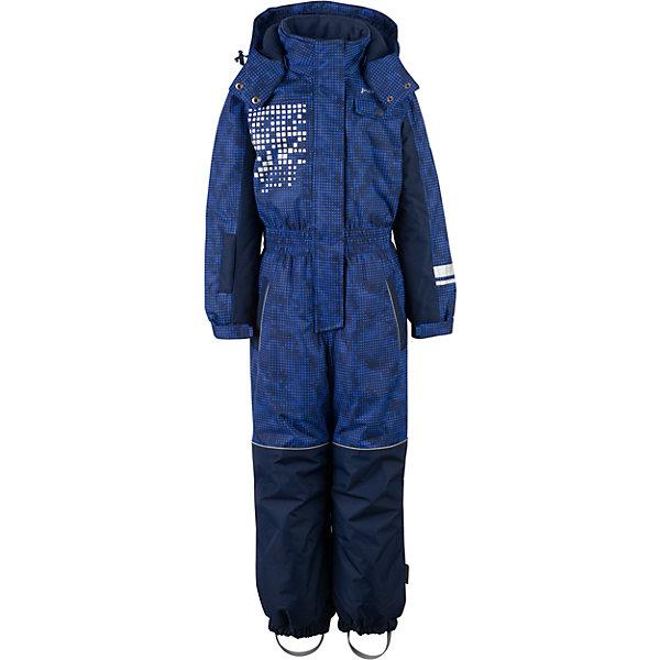 Комбинезон Premont для мальчикаВерхняя одежда<br>Характеристики товара:<br><br>• цвет: синий<br>• состав ткани: Taslan<br>• подкладка: Polar fleece, Taffeta<br>• утеплитель: Tech-polyfill<br>• сезон: зима<br>• мембранное покрытие<br>• температурный режим: от -30 до +5<br>• водонепроницаемость: 5000 мм <br>• паропроницаемость: 5000 г/м2<br>• плотность утеплителя: 280 г/м2<br>• капюшон: несъемный<br>• искусственный мех на капюшоне отстегивается<br>• застежка: молния<br>• страна бренда: Канада<br>• страна изготовитель: Китай<br><br>Практичный зимний детский комбинезон сделан с применением мембранной технологии. Мягкая подкладка комбинезона для детей делает его очень комфортным. Зимний комбинезон для ребенка снабжен мягкими манжетами. Детский теплый комбинезон дополнен удобным капюшоном, планкой от ветра и карманами на липучках. <br><br>Комбинезон для мальчика Premont (Премонт) можно купить в нашем интернет-магазине.<br>Ширина мм: 356; Глубина мм: 10; Высота мм: 245; Вес г: 519; Цвет: синий; Возраст от месяцев: 18; Возраст до месяцев: 24; Пол: Мужской; Возраст: Детский; Размер: 128,122,92,116,110,104,98; SKU: 7088327;