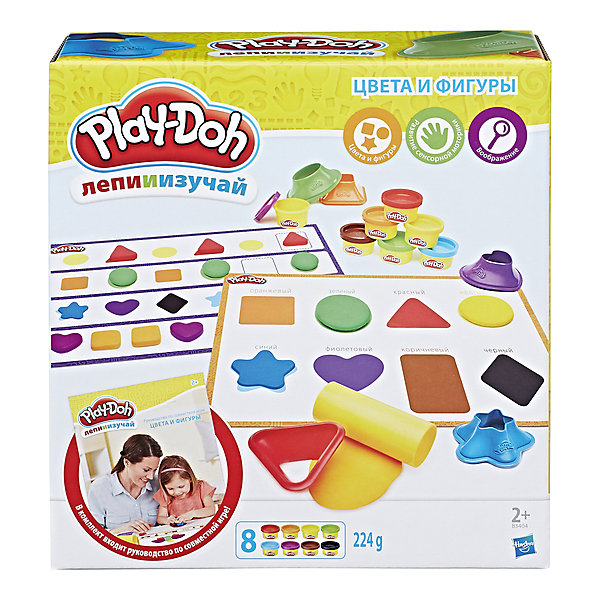 Hasbro Набор пластилина Hasbro Play-Doh Цвета и формы hasbro play doh b6752 игровой набор play doh 4 2