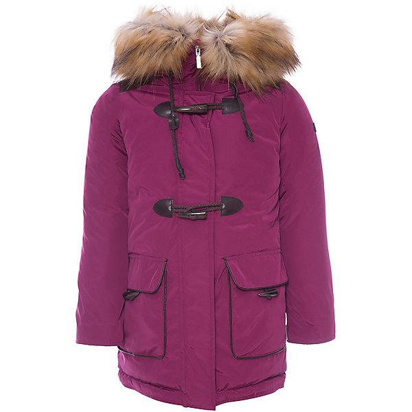 Утепленная куртка BOOM by OrbyВерхняя одежда<br>Характеристики товара:<br><br>• состав ткани: твил pu milky<br>• подкладка: хлопок, флис, полиэстер пуходержащий<br>• утеплитель: FiberSoft, пристежка - эко синтепон <br>• сезон: зима<br>• температурный режим: от 0 до -30С<br>• плотность утеплителя: 200 г/м2<br>• капюшон: с мехом<br>• застежка: молния<br>• в комплекте куртка-пристежка<br>• страна бренда: Россия<br>• страна изготовитель: Россия<br><br>Модная теплая куртка дополнена внутренне пристежкой для утепления в морозы. Зимняя куртка для ребенка поможет обеспечить необходимый уровень утепления. Детская куртка дополнена удобным капюшоном, планкой от ветра и карманами. Плотная ткань и утеплитель зимней куртки надежно защищает от мороза.