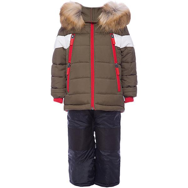 Комплект: куртка и полукомбинезон BOOM by Orby для мальчикаВерхняя одежда<br>Характеристики товара:<br><br>• цвет: серый<br>• комплектация: куртка, полукомбинезон <br>• состав ткани: таффета pu milky<br>• подкладка: хлопок, флис, полиэстер пуходержащий<br>• утеплитель: эко синтепон<br>• сезон: зима<br>• температурный режим: от 0 до -30С<br>• плотность утеплителя: куртка - 400 г/м2, полукомбинезон - 200 г/м2<br>• капюшон: с мехом<br>• застежка: молния<br>• страна бренда: Россия<br>• страна изготовитель: Россия<br><br>Удобный зимний комплект для детей поможет обеспечить ребенку комфортный уровень утепления. Детский теплый комплект выполнен в оригинальной расцветке. Комплект для мальчика дополнен удобным капюшоном и карманами. Этот зимний детский комплект создан специально для мальчиков. <br><br>Комплект: куртка и полукомбинезон для мальчика BOOM by Orby (Бум бай Орби) можно купить в нашем интернет-магазине.<br>Ширина мм: 356; Глубина мм: 10; Высота мм: 245; Вес г: 519; Цвет: хаки; Возраст от месяцев: 12; Возраст до месяцев: 18; Пол: Мужской; Возраст: Детский; Размер: 86,122,116,110,104,98,92; SKU: 7090742;