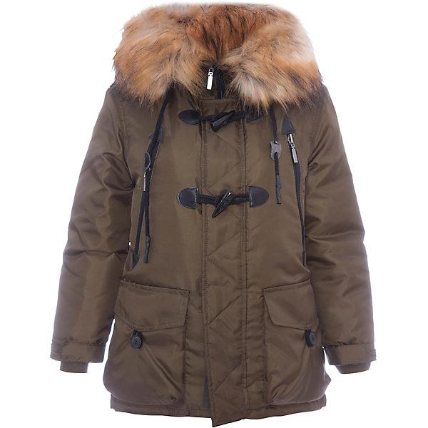 Куртка BOOM by Orby для мальчикаВерхняя одежда<br>Характеристики товара:<br><br>• цвет: коричневый<br>• состав ткани: оксфорд pu milky<br>• подкладка: хлопок, флис, полиэстер пуходержащий<br>• утеплитель: эко синтепон <br>• сезон: зима<br>• температурный режим: от 0 до -30С<br>• плотность утеплителя: 400 г/м2<br>• капюшон: с мехом<br>• застежка: молния<br>• страна бренда: Россия<br>• страна изготовитель: Россия<br><br>Стильная теплая куртка имеет удобный капюшон с опушкой. Зимняя куртка для ребенка поможет обеспечить необходимый уровень комфорта в морозы. Плотная ткань и утеплитель зимней куртки защитят ребенка от холодного воздуха. <br><br>Куртку для мальчика BOOM by Orby (Бум бай Орби) можно купить в нашем интернет-магазине.<br>Ширина мм: 356; Глубина мм: 10; Высота мм: 245; Вес г: 519; Цвет: хаки; Возраст от месяцев: 156; Возраст до месяцев: 168; Пол: Мужской; Возраст: Детский; Размер: 164,98,170,158,152,146,140,134,128,122,116,110,104; SKU: 7090806;